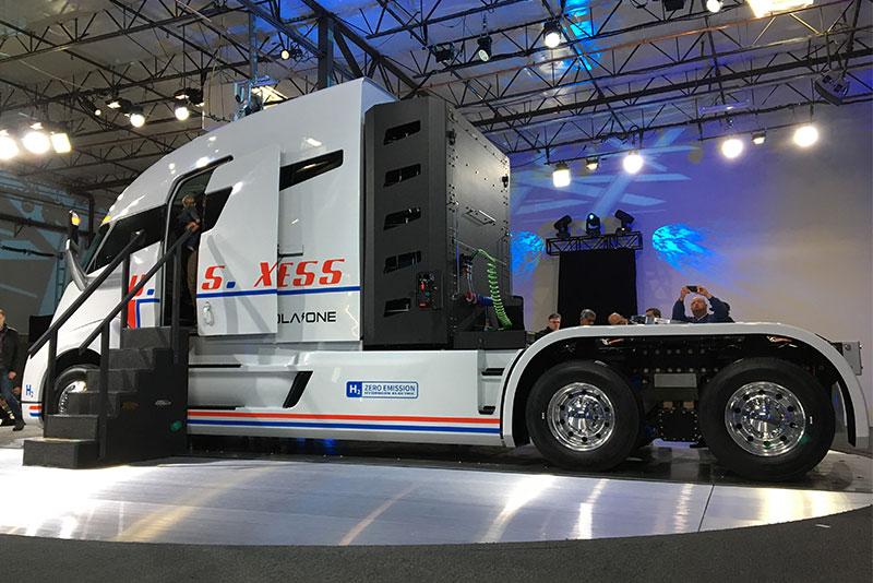 Los camiones de Nikola usan hidrógeno como una alternativa de combustible